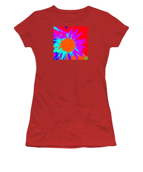 Psychedelic Sunflower Women's T-Shirt (Athletic Fit)