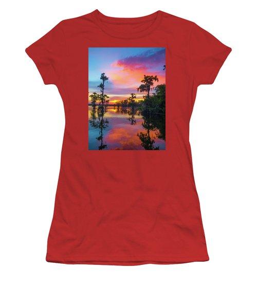Psychedelic Swamp Women's T-Shirt (Junior Cut) by Kimo Fernandez