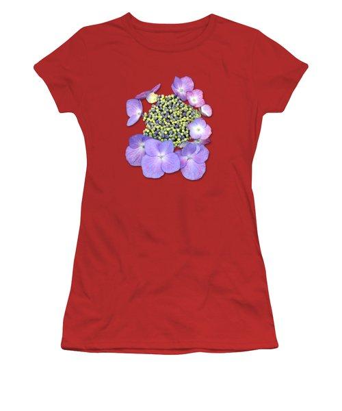 Purple Pods Sehemu Mbili Unyenyekevu Women's T-Shirt (Junior Cut) by Bob Slitzan