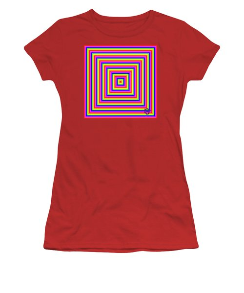 Women's T-Shirt (Athletic Fit) featuring the digital art Rainbow #1 by Barbara Tristan