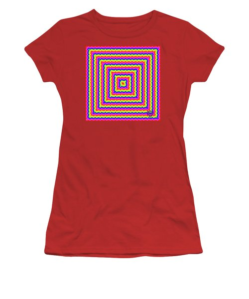 Women's T-Shirt (Athletic Fit) featuring the digital art Rainbow #3 by Barbara Tristan