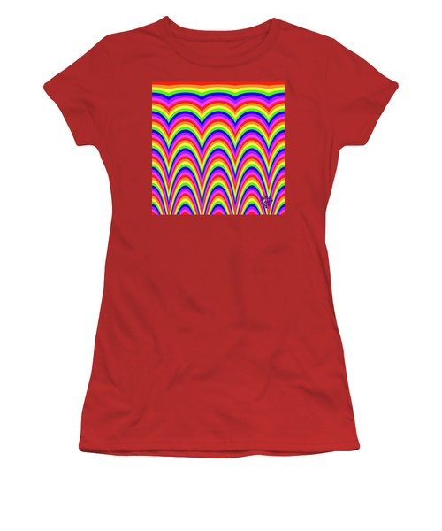 Rainbow #4 Women's T-Shirt (Athletic Fit)