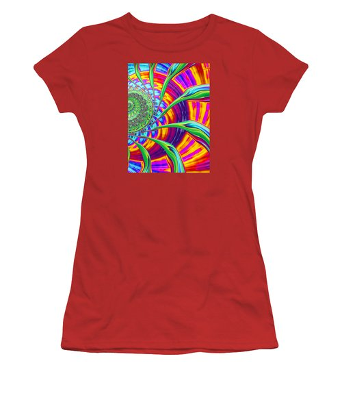 Rainbow Sun Women's T-Shirt (Athletic Fit)