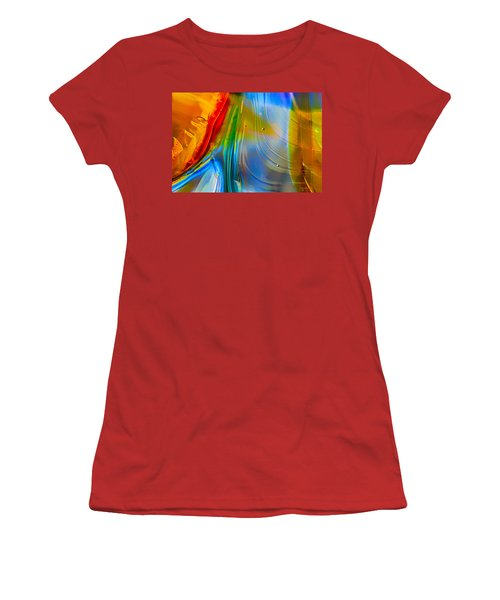 Rainbow Waterfalls Women's T-Shirt (Athletic Fit)