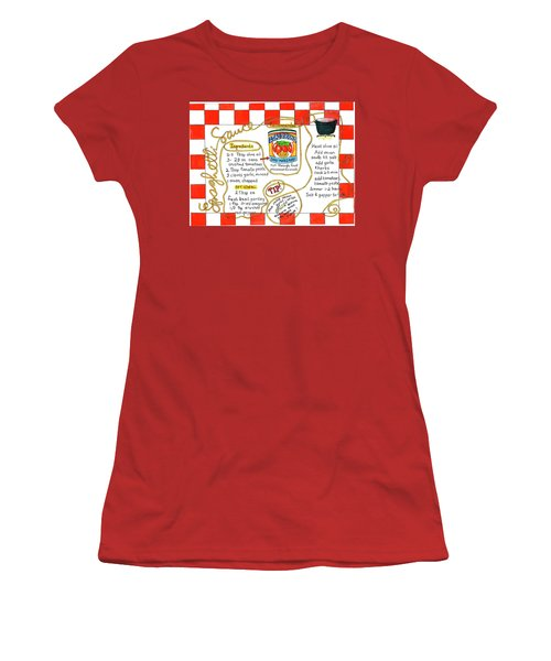 Recipe -spaghetti Sauce  Women's T-Shirt (Athletic Fit)