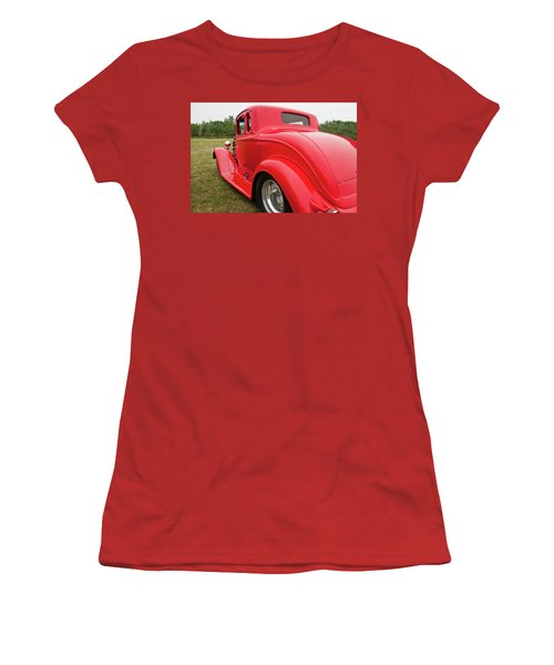 Women's T-Shirt (Junior Cut) featuring the photograph Red 1994 by Guy Whiteley