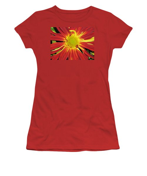 Red And Yellow Flower Women's T-Shirt (Junior Cut) by Barbara Yearty