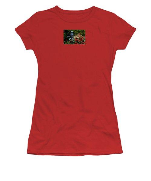 Women's T-Shirt (Junior Cut) featuring the photograph Red Azalea Lady by Susanne Van Hulst