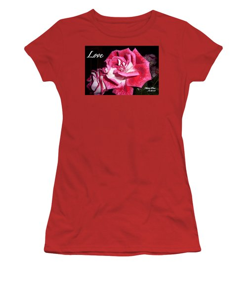 Red Beauty 3 - Love Women's T-Shirt (Athletic Fit)