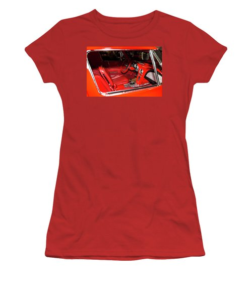 Red Corvette Stingray Women's T-Shirt (Junior Cut) by Amyn Nasser