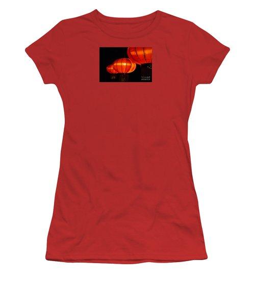 Red Lanterns Women's T-Shirt (Junior Cut) by Rebecca Davis