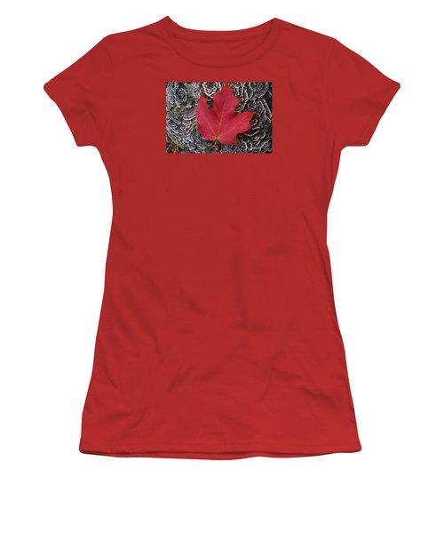 Red Leaf  Women's T-Shirt (Junior Cut) by John S