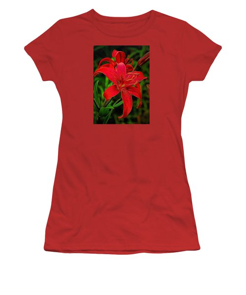 Red Lily Women's T-Shirt (Athletic Fit)
