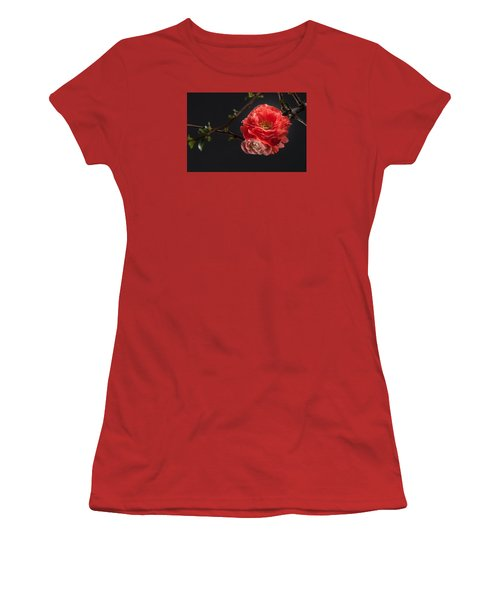 Women's T-Shirt (Junior Cut) featuring the photograph Red Plum In Early Spring by Catherine Lau
