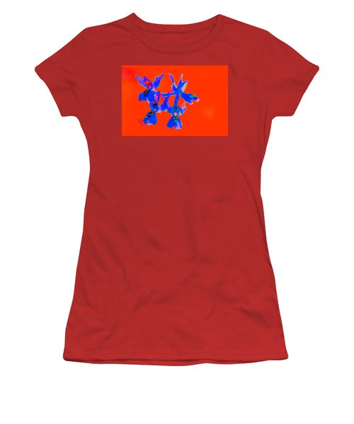 Red Provence Orchid Women's T-Shirt (Junior Cut) by Richard Patmore