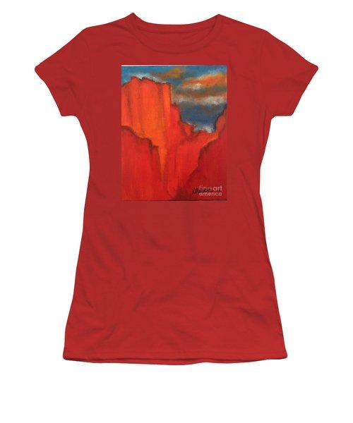 Red Rocks Women's T-Shirt (Junior Cut) by Kim Nelson