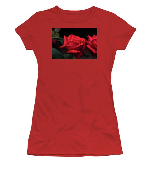 Women's T-Shirt (Junior Cut) featuring the photograph Red Rose 014 by George Bostian
