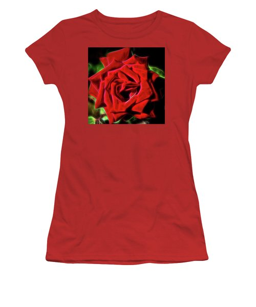 Red Rose 1a Women's T-Shirt (Athletic Fit)