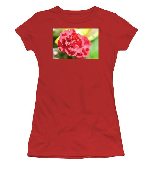 Red Rose II Women's T-Shirt (Athletic Fit)