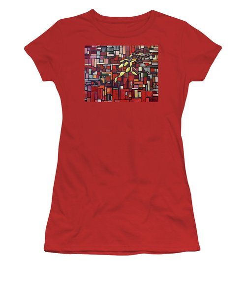 Women's T-Shirt (Junior Cut) featuring the painting Red Tango by Joanne Smoley