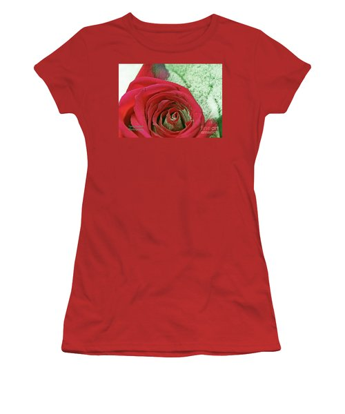 Women's T-Shirt (Junior Cut) featuring the digital art Red by Terry Foster