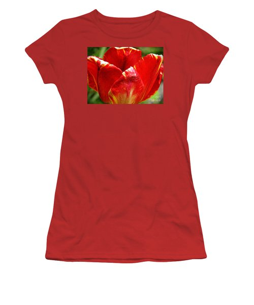 Red Tulip Women's T-Shirt (Athletic Fit)