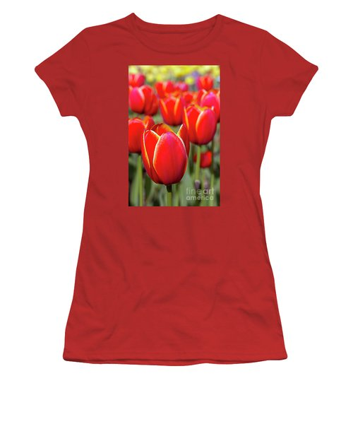 Red And Yellow Tulips I Women's T-Shirt (Athletic Fit)