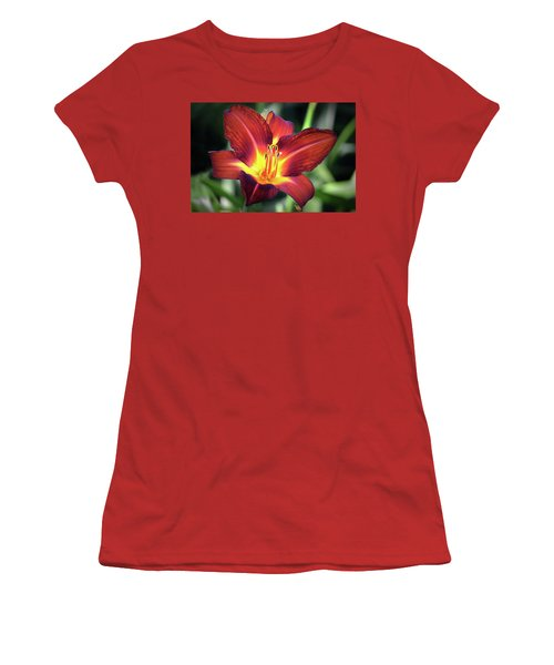 Women's T-Shirt (Junior Cut) featuring the photograph Red Volunteer. by Terence Davis