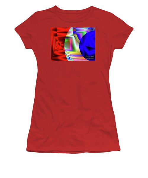 Red White And Blue 3 Women's T-Shirt (Athletic Fit)