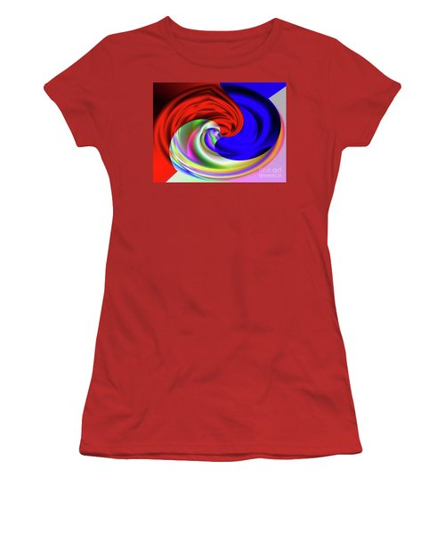Red White And Blue 4 Women's T-Shirt (Athletic Fit)