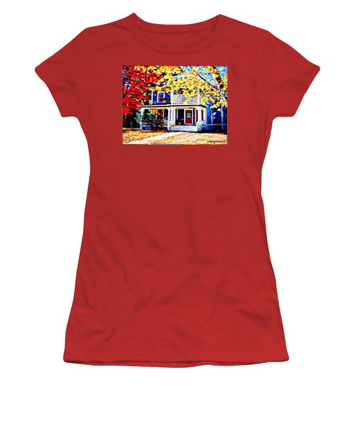 Reds And Yellows Women's T-Shirt (Junior Cut) by MaryLee Parker