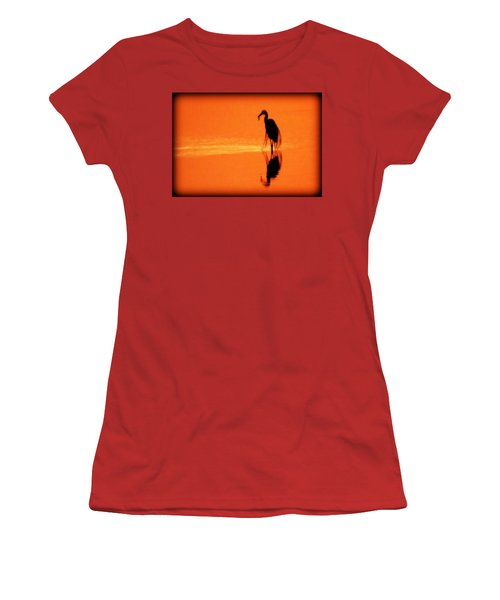 Reflections Of A Heron Women's T-Shirt (Athletic Fit)