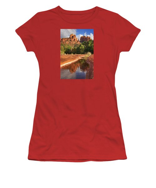 Reflections Of Cathedral Rock Women's T-Shirt (Athletic Fit)