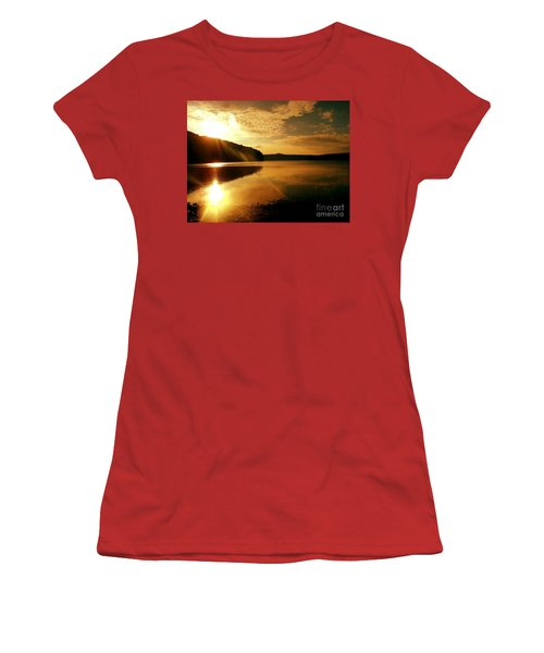Reflections Of The Day Women's T-Shirt (Junior Cut) by Scott D Van Osdol