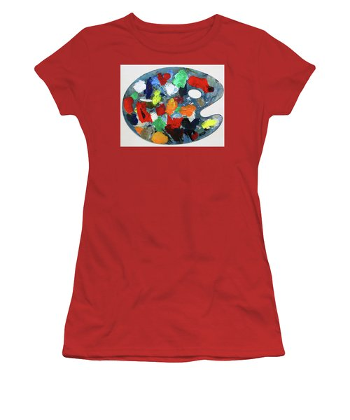 The Artists Palette Women's T-Shirt (Athletic Fit)
