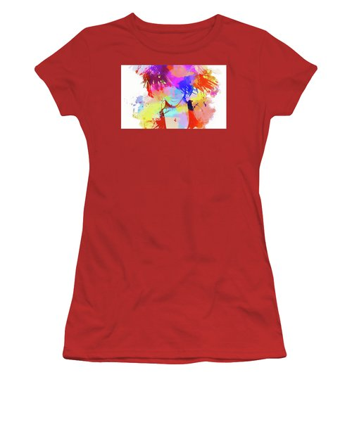 Rihanna Paint Splatter Women's T-Shirt (Athletic Fit)