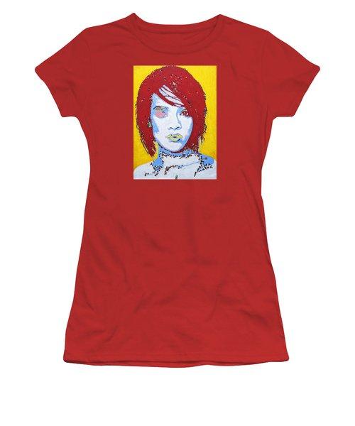 Rihanna  Women's T-Shirt (Junior Cut) by Stormm Bradshaw