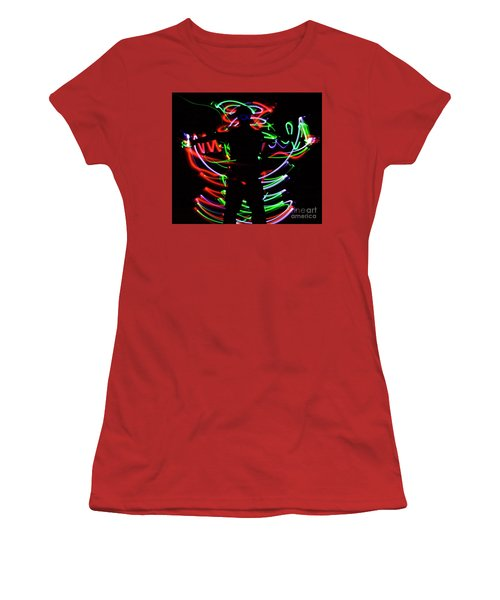 Women's T-Shirt (Junior Cut) featuring the photograph Rockin' In The Dead Of Night by Xn Tyler