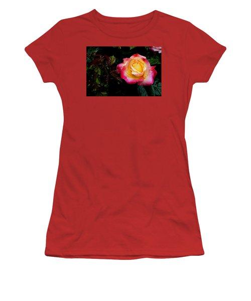 Rose 1 Women's T-Shirt (Junior Cut) by Nick Kloepping