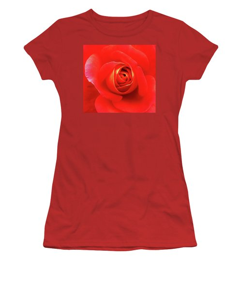 Rose Women's T-Shirt (Junior Cut) by Mary Ellen Frazee