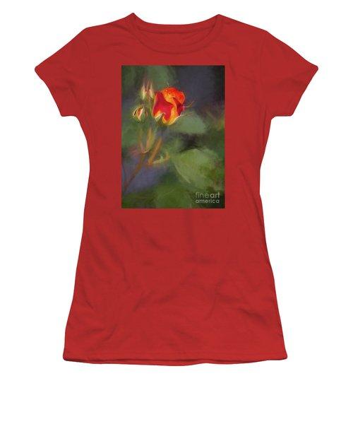 Rosebuds Women's T-Shirt (Junior Cut) by Billie-Jo Miller
