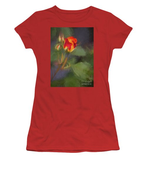 Rosebuds Women's T-Shirt (Athletic Fit)