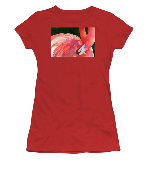 Women's T-Shirt (Junior Cut) featuring the painting Rosy Outlook by Judy Mercer