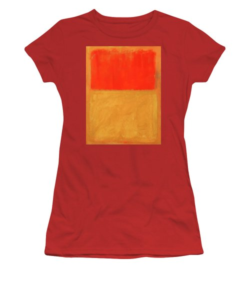 Rothko's Orange And Tan Women's T-Shirt (Athletic Fit)