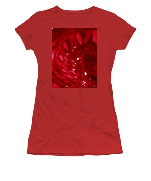 Ruby Glass Beauty Women's T-Shirt (Junior Cut) by Samantha Thome
