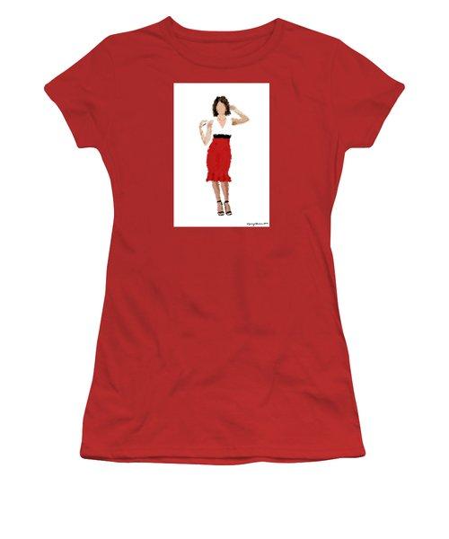 Women's T-Shirt (Junior Cut) featuring the digital art Ruby by Nancy Levan