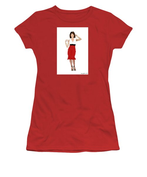 Women's T-Shirt (Athletic Fit) featuring the digital art Ruby by Nancy Levan