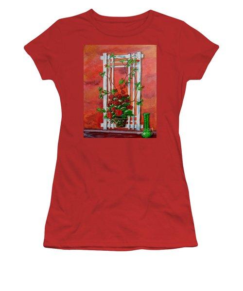 Running Roses Women's T-Shirt (Junior Cut) by Melvin Turner