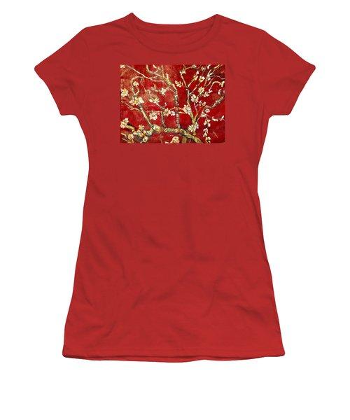 Sac Rouge Avec Fleurs D'almandiers Women's T-Shirt (Athletic Fit)