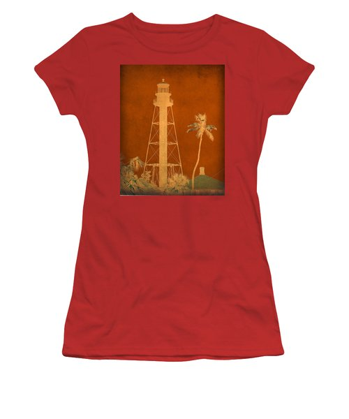 Sanibel Island Lighthouse Women's T-Shirt (Junior Cut) by Trish Tritz